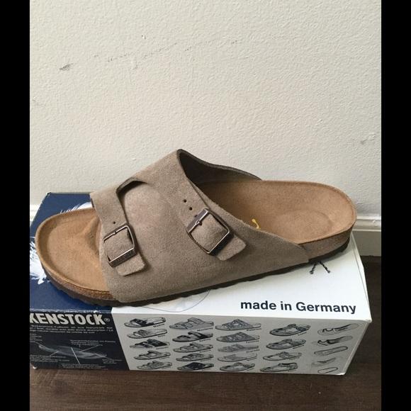 64814938d Birkenstock Zurich Taupe Suede Men s Sandals