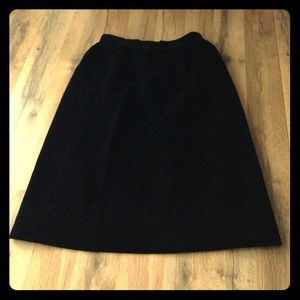 VINTAGE JH Collectibles long black velvet skirt