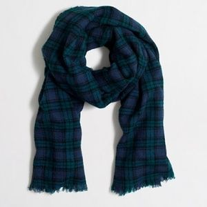 NWT J. Crew Plaid Scarf