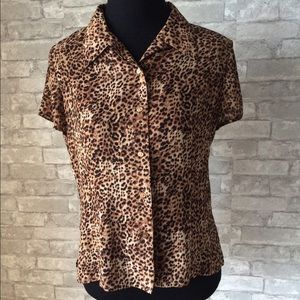 Emma James Tops - Leopard print blouse