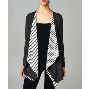 "1DAYSALE ""No More Cliches"" Striped Accent Cardigan"