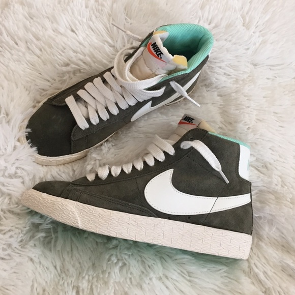 Nike Shoes For J Crew 65 Olive Green Suede High Tops Poshmark
