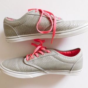 pink shiny vans