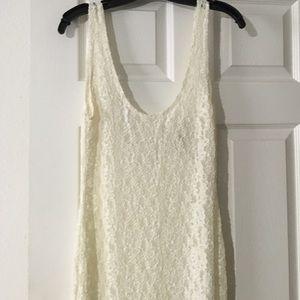 Maxi Lace Sheer Dress
