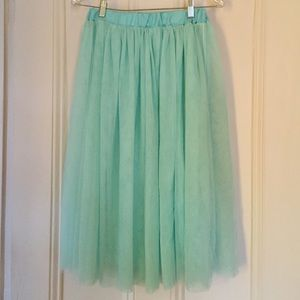 Dresses & Skirts - Mint Green Tulle Skirt