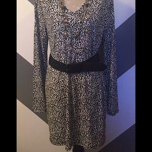MICHAEL Michael Kors leopard  print tunic dress