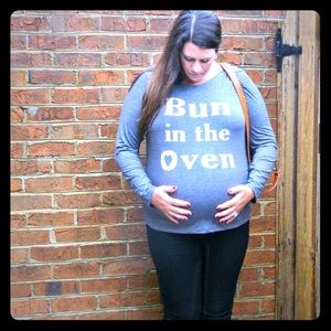 Tops - Bun In The Oven Maternity Top