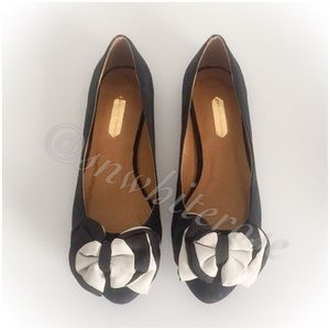 Shoes - Suede Bow Flats