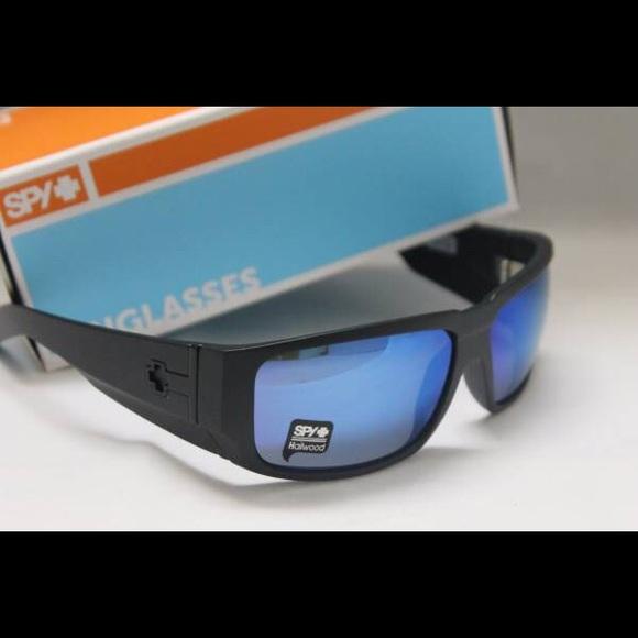 a86551e11b New Spy Hailwood Sunglasses Matte Black   Blue