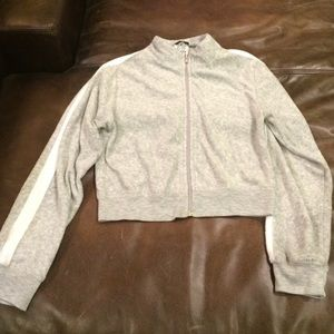 Planet Gold Tops - Planet Gold terry cloth zip up gym sweatshirt