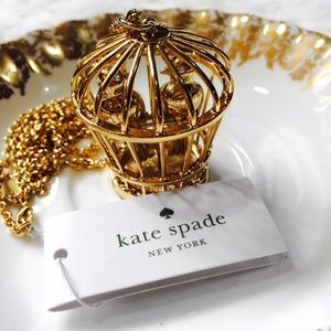kate spade Jewelry - Kate Spade Gold Pair of Birds Caged Necklace