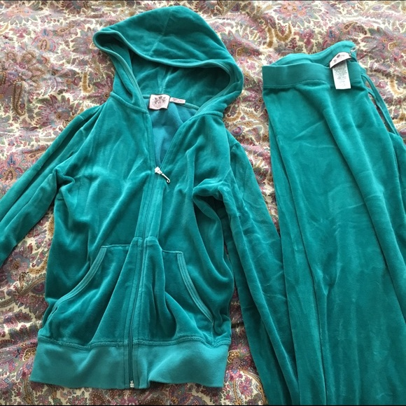 d6fe49d77fe1 Juicy Couture Tops - Juicy couture tracksuit turquoise