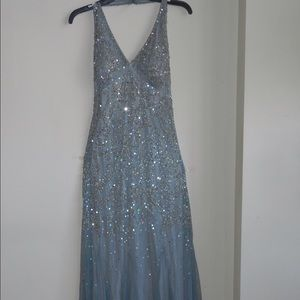 Blue-Gray Sequined Dress!