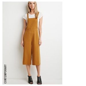 Forever 21 Pants - Mustard Culottes Overalls
