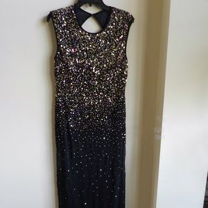Black Sequined Prom Dress!