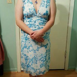 Xoxo blue and white flower dress