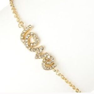 SALE Gold Love Pendant Bracelet