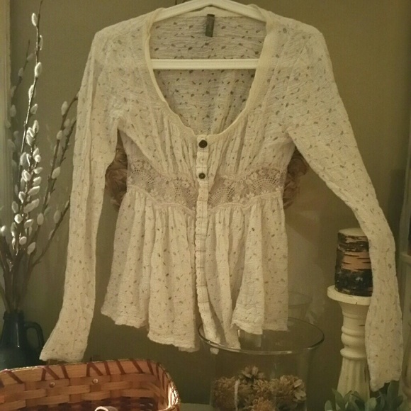 Free People Tops - Just reduced Free People XS long sleeve shirt