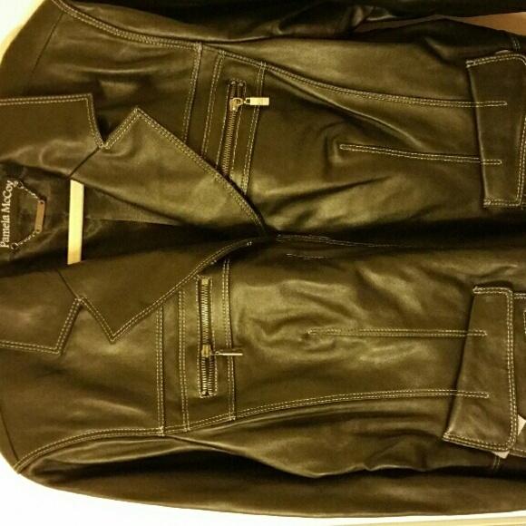 Pamela mccoy leather jackets