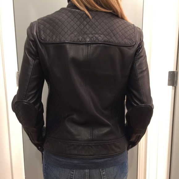 Calvin Klein Jackets & Coats - Calvin Klein Black Leather Moto Jacket