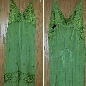 Dresses & Skirts - ON HOLD!!!!!!! Beautiful green boho dress