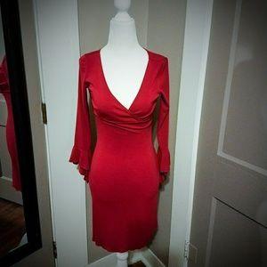 Dresses & Skirts - Red 3/4 sleeve dress