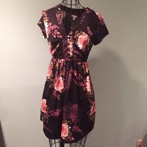 NWOT Oneill Floral Button Up Babydoll Dress