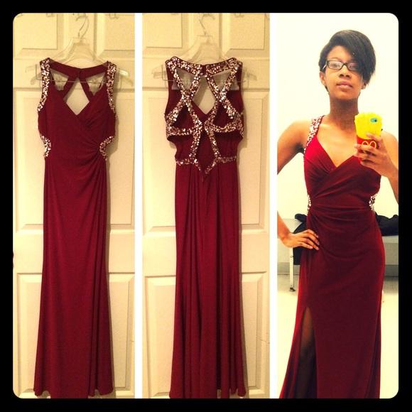 40% off Hailey logan Dresses & Skirts - Red Hailey Logan prom ...