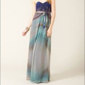 Cynthia Vincent Pleated Chiffon Maxi Dress XS/2