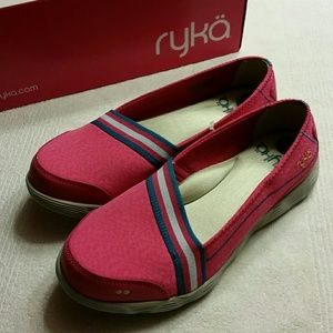 New Balance Shoes - New RYKA Pink Comfort Loafer Sneakers