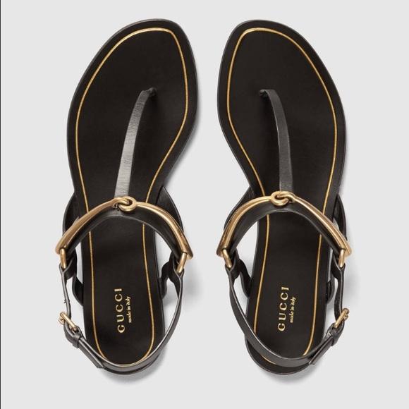 7d06b8b0c81302 Gucci Shoes - Gucci Tess leather horsebit thong sandal