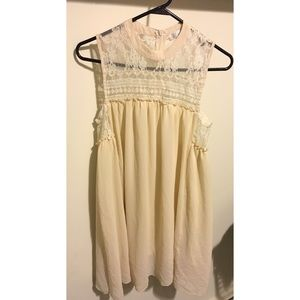 Boho Chic Cream Dress