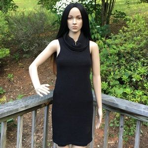 Lulu's Dresses - ➳ LuLu's Cowl Neck Little Black Sweater Dress