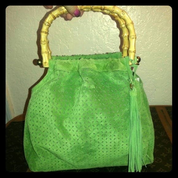 914d403c8 MIU MIU vintage green suede BAMBOO purse! M_56adafb5afcd0e29a200b1e6
