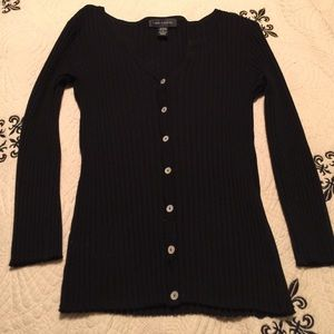 Cable & Gauge Sweaters - Cable & Gauge Stretchy Sweater 3/4 Sleeve Black