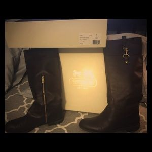 Coach riding boots brown