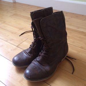 ALDO Shoes - Aldo Brown Combat Boots
