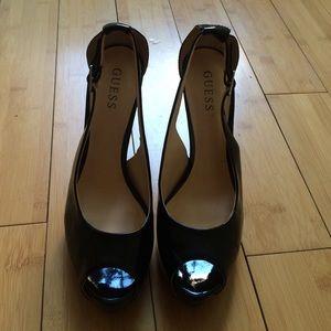 Guess Shoes - Guess Black Patent Leather Pumps