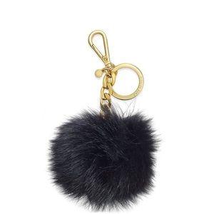 Pom pom keychain fur black