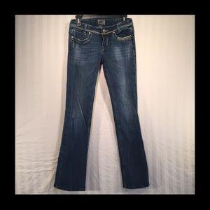Express ReRock Dark Wash Skinny Jeans 2