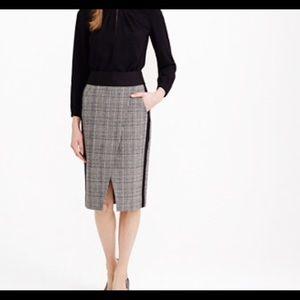 J. Crew Dresses & Skirts - 🎉J Crew Glen Crossover HoundstoothSkirt