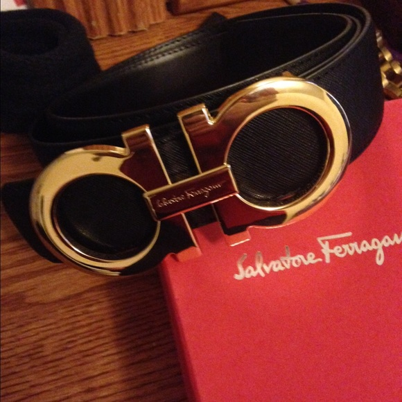 How To Tell If A Ferragamo Belt Is Real >> Authentic Black Ferragamo Belt