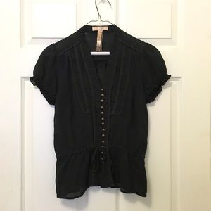 Andrew & Co Tops - Black Victorian Blouse