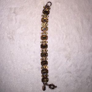 J Crew antique rose gold crystal bracelet