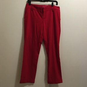 Alice and Olivia red crop pants
