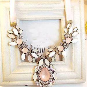 NEW - Gorgeous Statement Necklace w/ribbon