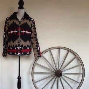 PENDLETON Vtg Western Indian Blanket Wool Jacket M