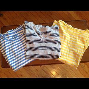 Bundle of 3 long sleeve striped tees
