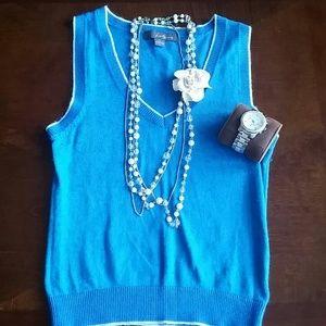 Blue vest!