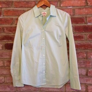 J.Crew Mint Green Button Down Shirt Size XS